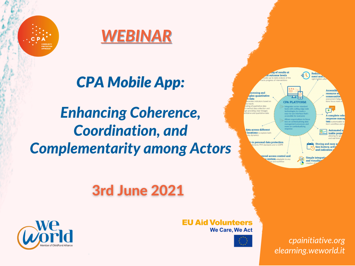 Course Image Webinar: CPA Mobile App : Enhancing Coherence, Coordination, and Complementarity among Actors